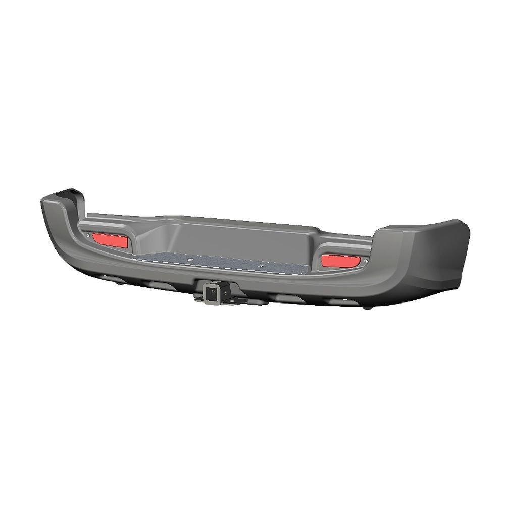 Бампер АВС-Дизайн задний с квадратом под фаркоп Toyota Hilux 2015- (загрунтован под покраску) 01842