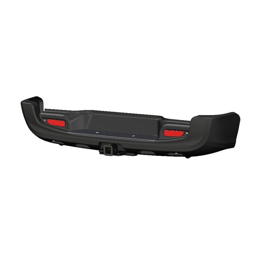 Бампер АВС-Дизайн задний с квадратом под фаркоп Toyota Hilux 2015- (чёрный) 01853