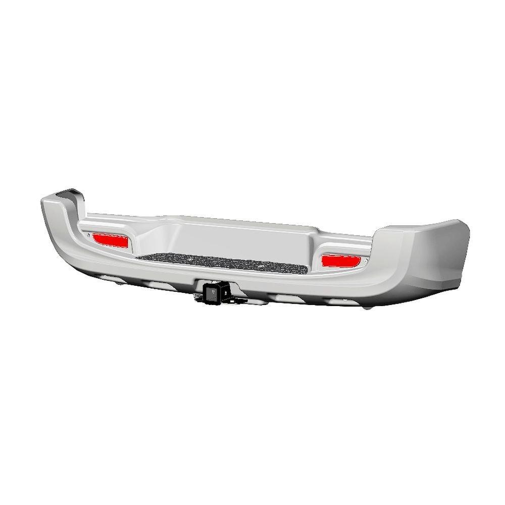 Бампер АВС-Дизайн задний с квадратом под дополнительное оборудование Toyota Hilux 2015- (белый) 01855