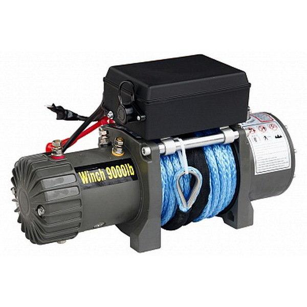 Лебёдка электрическая 12V CM9000S с синтетическим тросом (короткий барабан) 01905