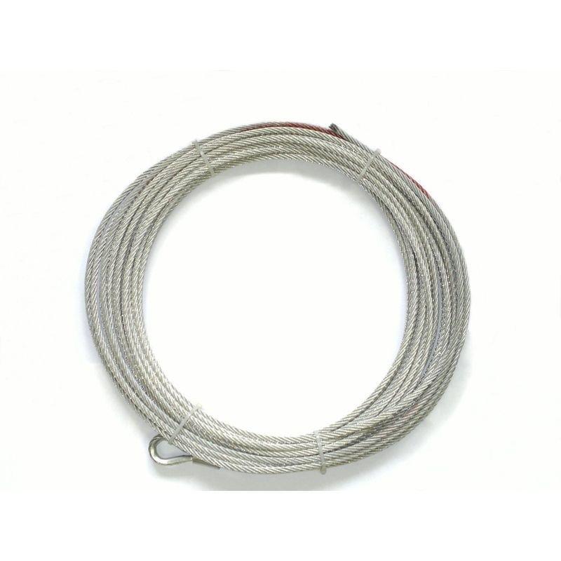 Запасной стальной трос для лебедок СТОКРАТ SD 6.0 (длинна 24 м, диаметр 7.2 мм). 02071
