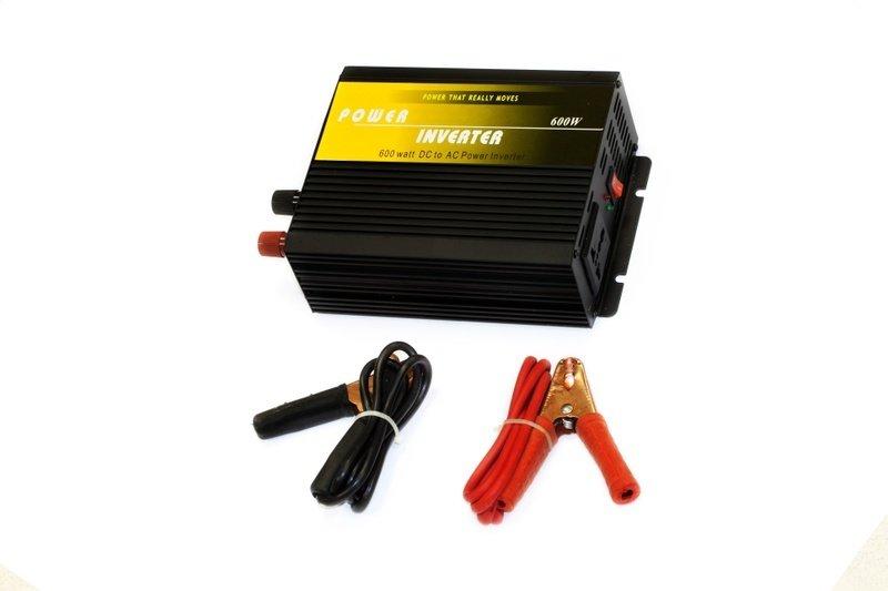 Преобразователь напряжения (инвертор) 12 В на 220 В, 600 Вт Стократ 02433