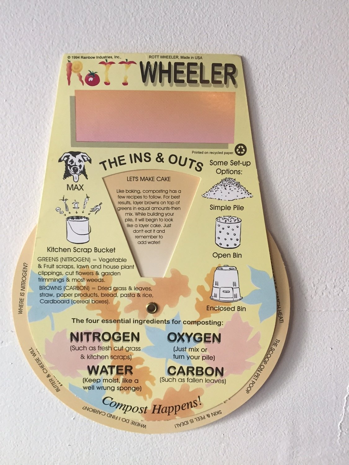 Rottwheeler - educational dial (FREE with the purchase of an Earth Machine!)