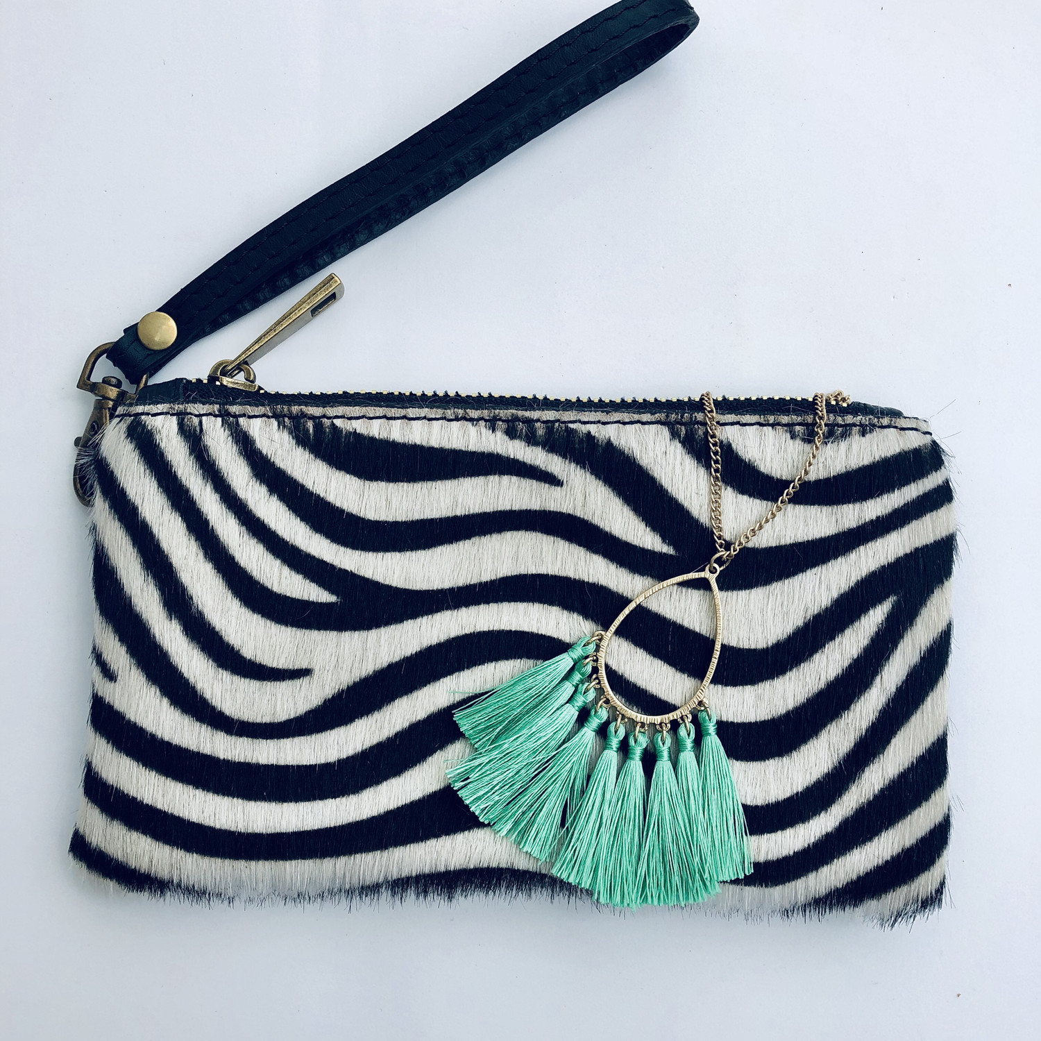 Zebra Mini Clutch