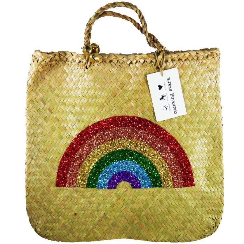 Glitter Rainbow Basket