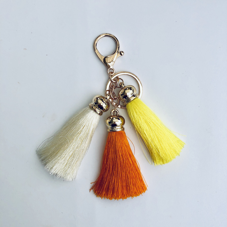 Tassel Keyring/Bag Charm Yellow