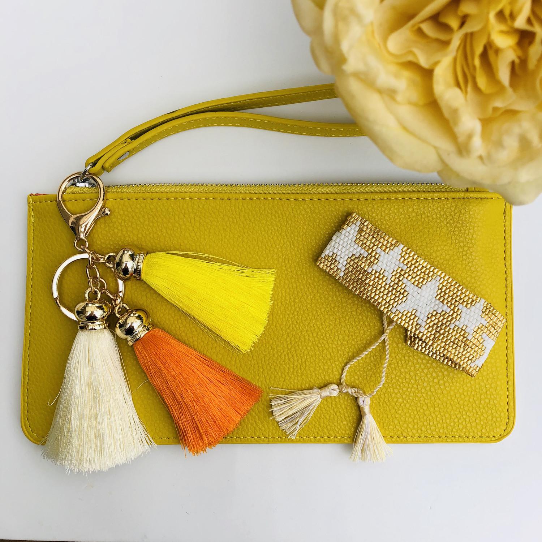 Daisy Mini Clutch/Purse Yellow
