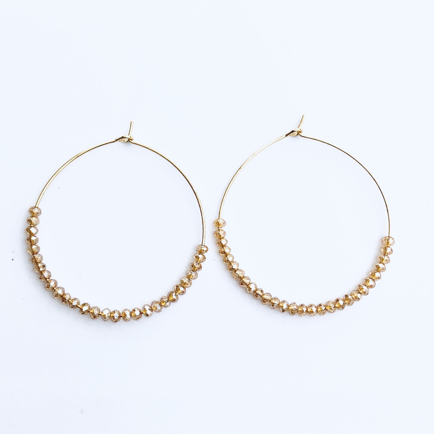 Isla Earrings Gold/Ivory