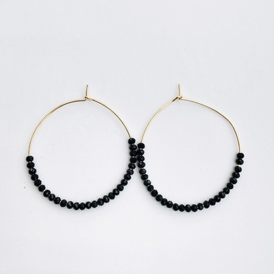 Isla Earrings Gold/Black