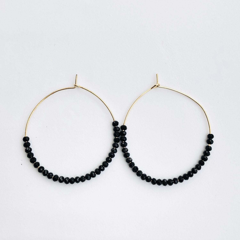 Isla Earrings Gold/Black