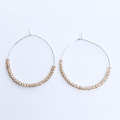 Isla Earrings Silver/Ivory