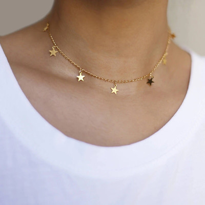 Estrella Short Necklace Gold