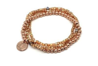 Ursinia Rose Gold Crystal Bracelet