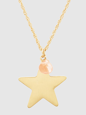Star Charm Necklace Long