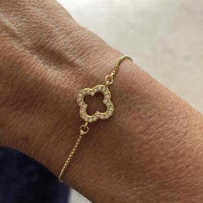 Clover Diamanté Bracelet