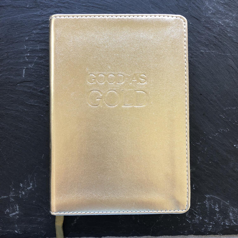Good As Gold Plain Notebook