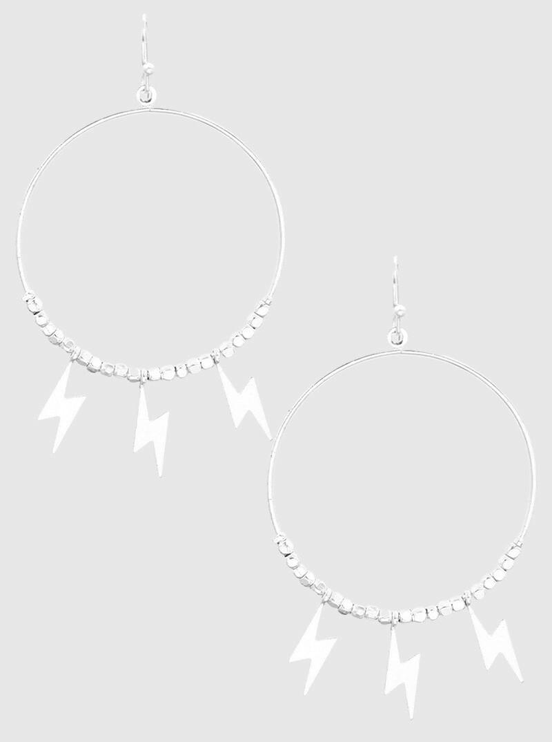 Flash Hoops Silver