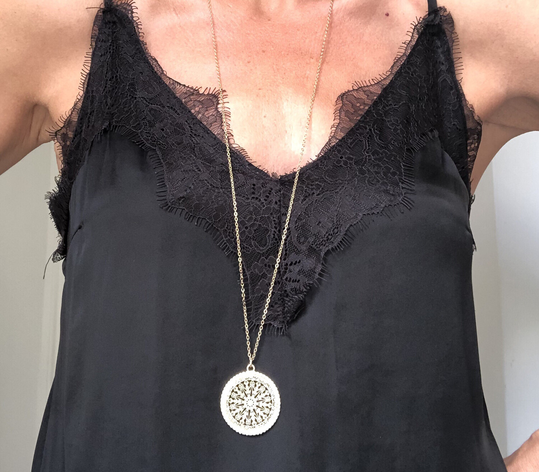Filigree Long Necklace