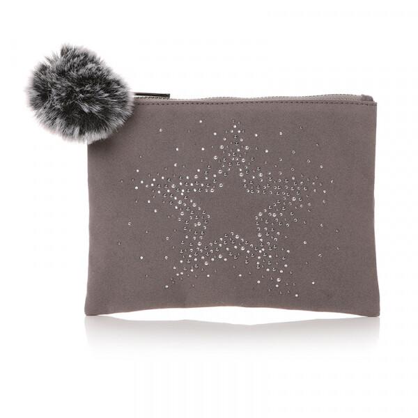 Velvet Diamante Star Bag