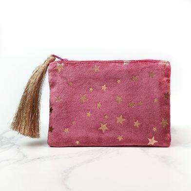 Pink Star Tassel Purse