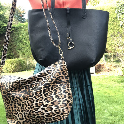 Mia Two in One Tote Leopard