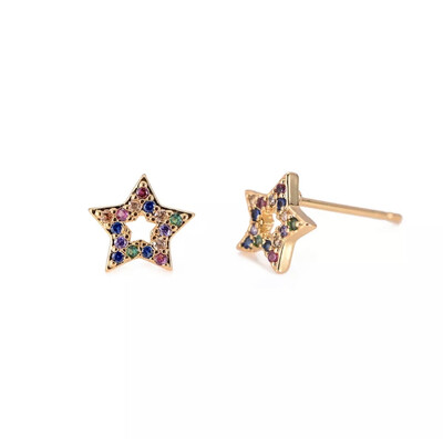 Rainbow Star Stud Earrings