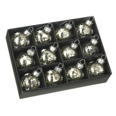Set of 12 Mini Star Baubles