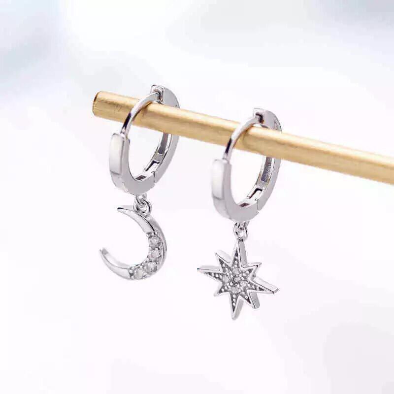 Luna Mini Hoops Silver