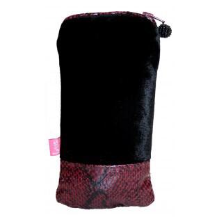 Velvet Glasses Case Black/Plum