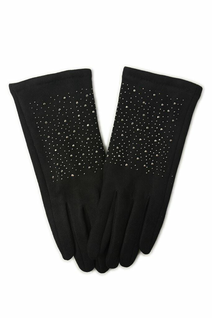 Scattered Stud Gloves Black