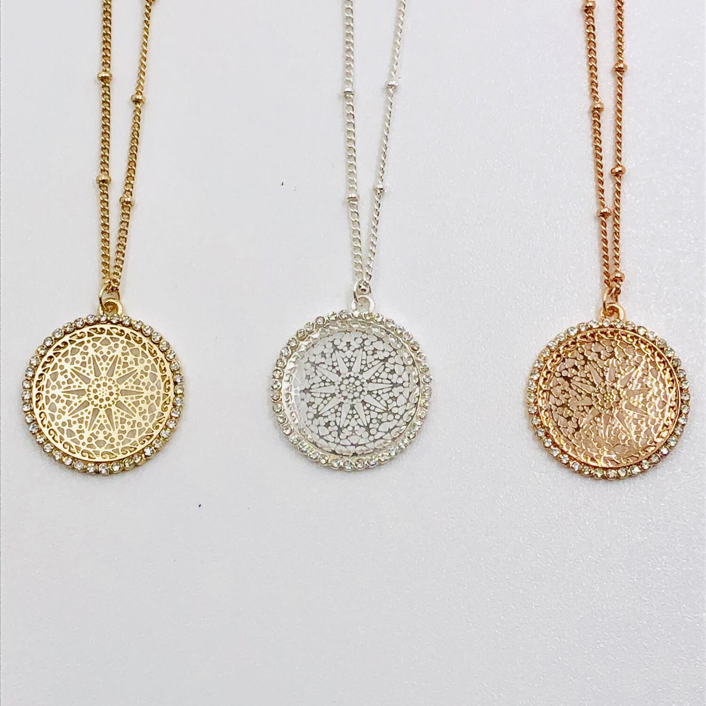 Filigree Short Necklace Silver