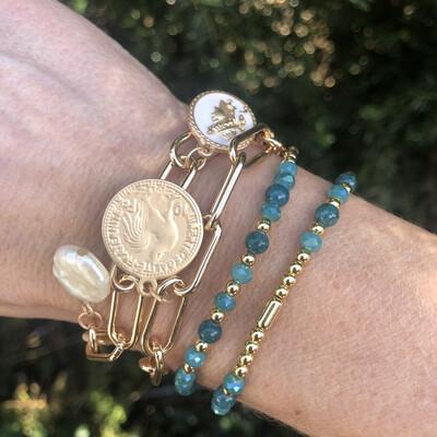 Blanche Classic Coin Bracelet