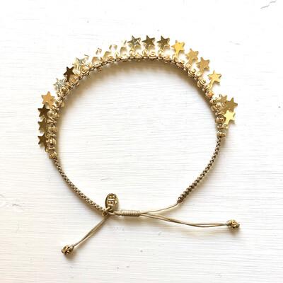 Tombok Gold Multi Star Bracelet