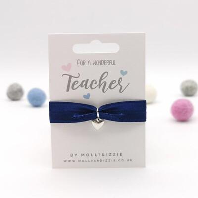 Teacher Stretch Charm Bracelet