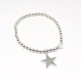 Karly Silver Star Bracelet
