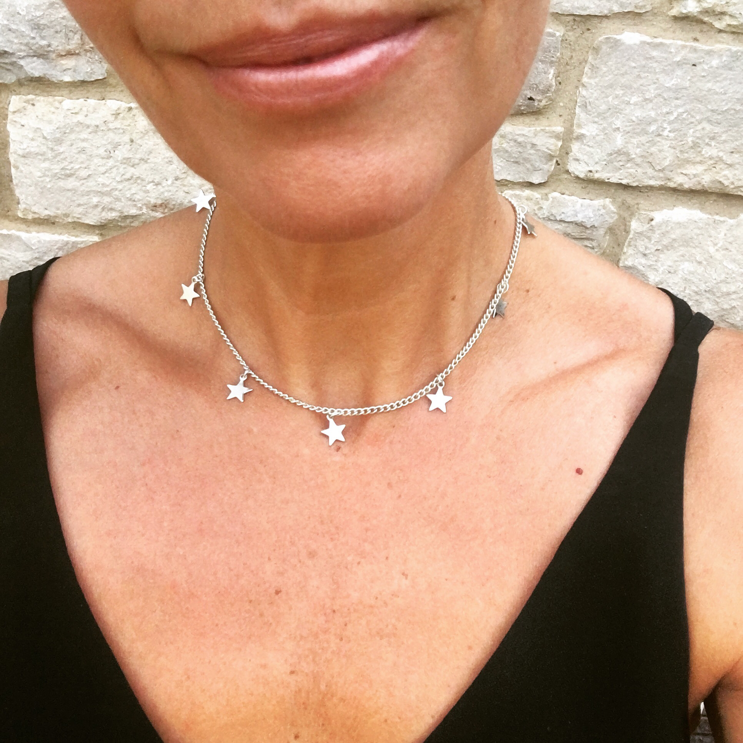 Estrella Short Necklace Silver