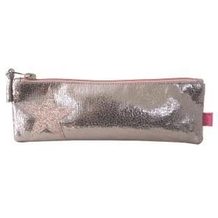Metallic Star Pencil/Make Up Bag