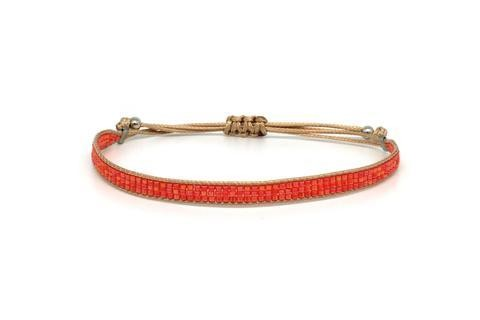 Jive Orange Beaded Bracelet