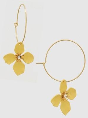 Fleur Earrings Pale Yellow