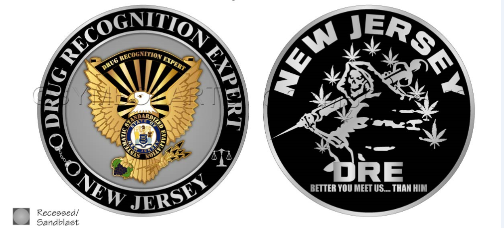 New Jersey DRE Challenge Coin 00000