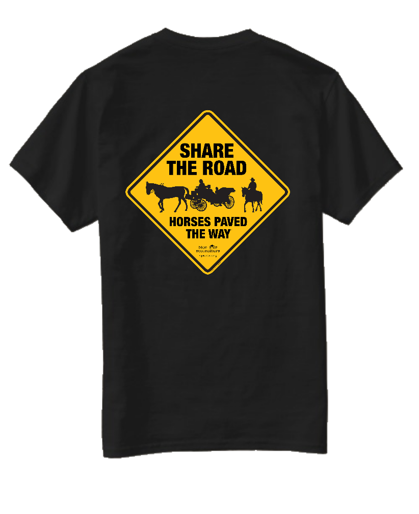 Share the Road Horses Paved the Way Short Sleeve Tee