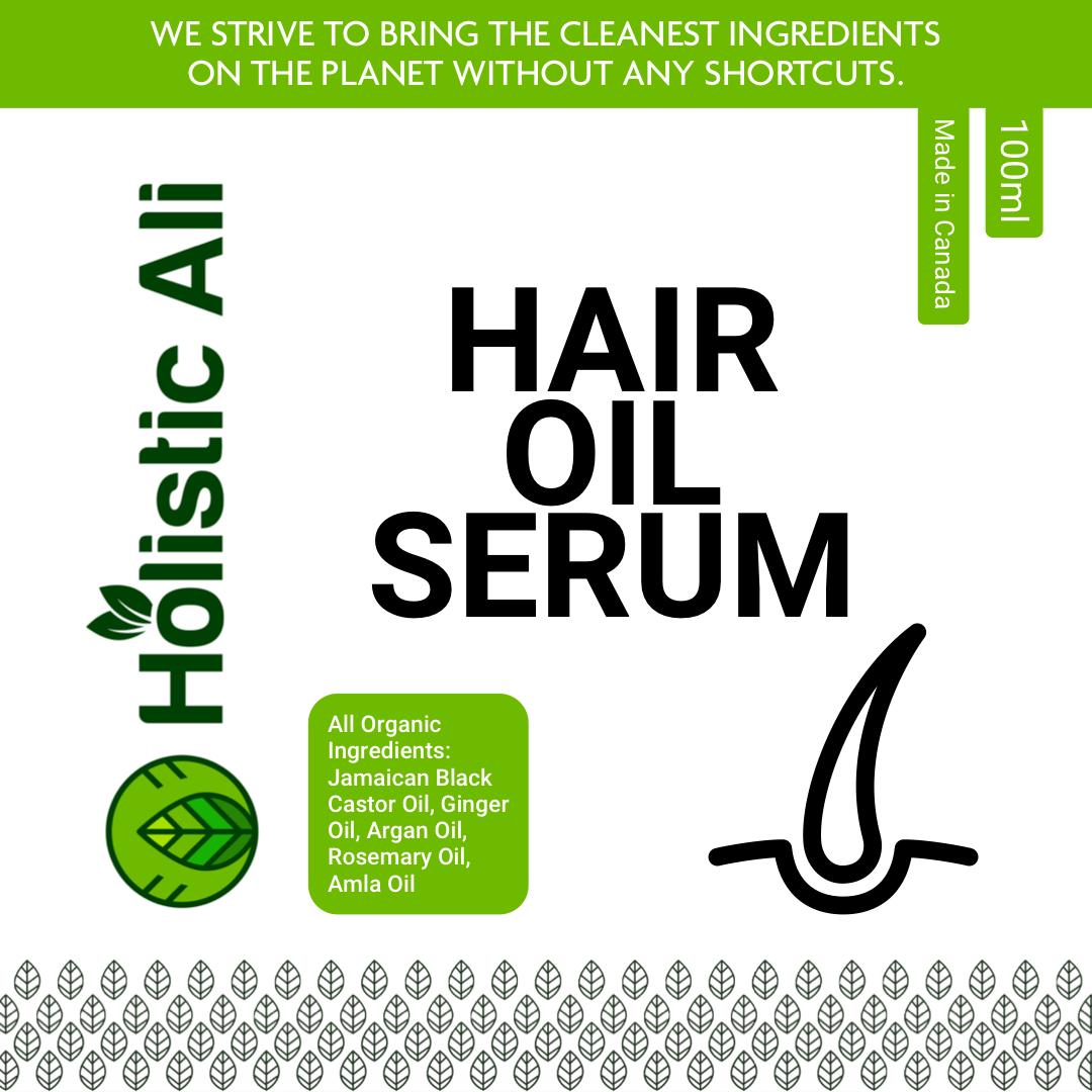 Holistic Hair Oil serum Jamaican Black Castor Oil, Amla Oil, Ginseng Oil, Argan Oil, Ginger Oil, and Rosemary Oil