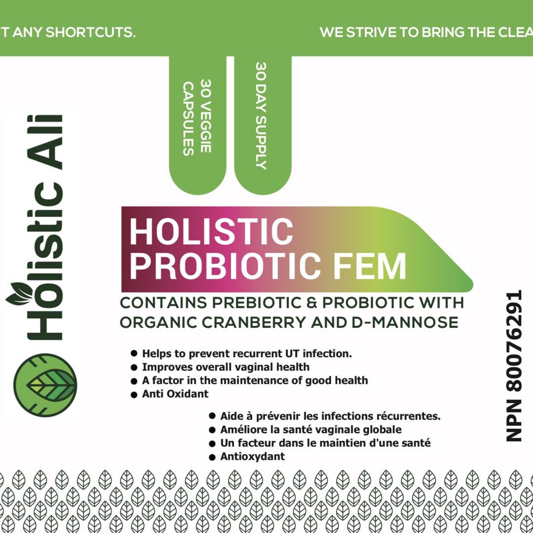 Holistic Probiotic Fem UTI Support 30 Veggie Capsules