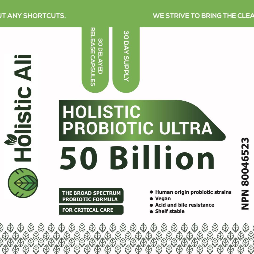 Holistic Probiotic Ultra 50 Billion 30 Delayed Release Capsule