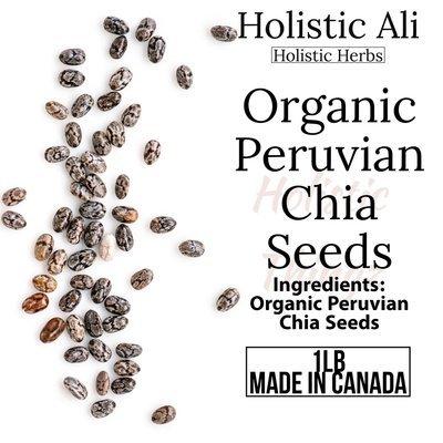 Chia Seeds 1lb Bag Organically grown from Peru