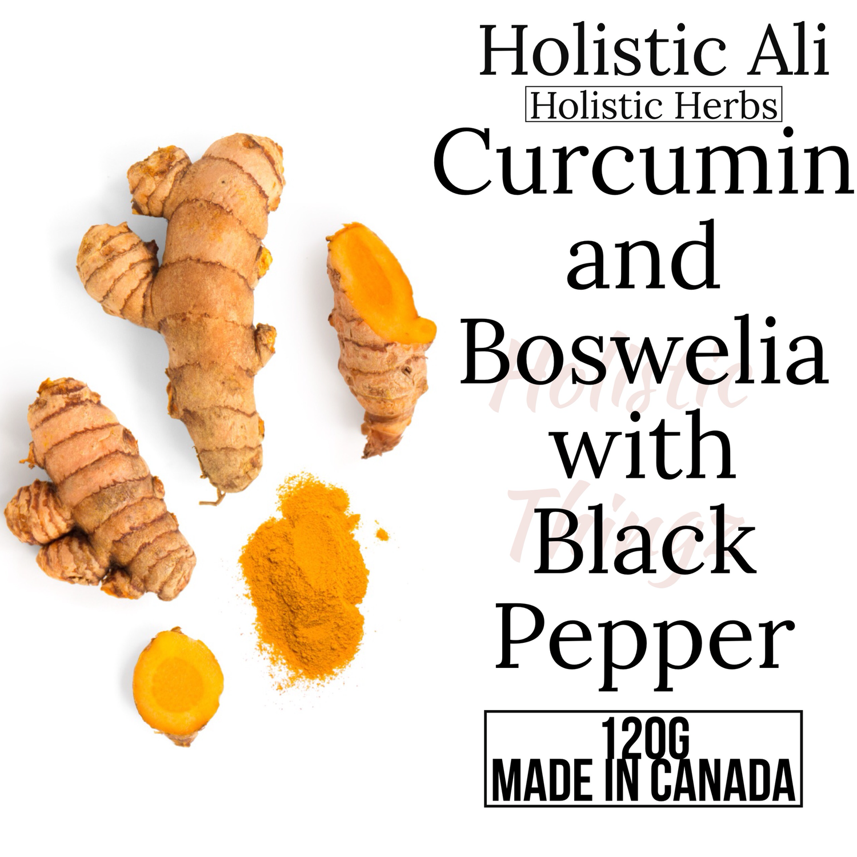 95% Curcumin + Boswellia Extract and Black Pepper Powder (2 Sizes)