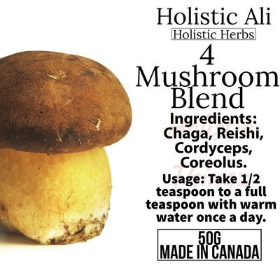 4 Mushroom Blend - Chaga, Cordyceps, Reishi, Coriolus ON SALE BUY ONE GET ONE
