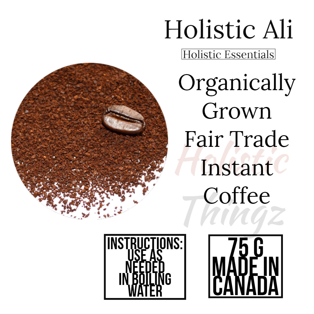 Organically Grown  Fair Trade Instant Coffee 75G