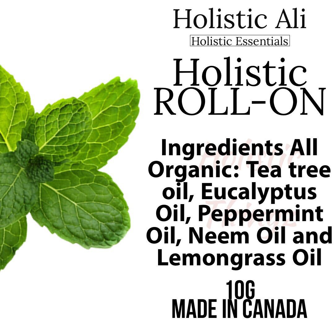 Holistic Roll on with Peppermint, Tea Tree, Eucalyptus, Neem and Lemongrass 10ml x 2
