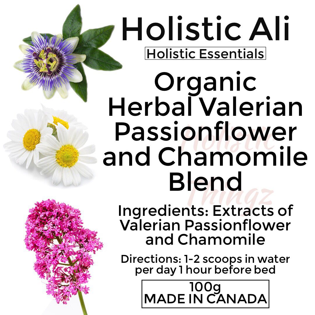 Organic Herbal Valerian Passionflower and Chamomile Blend 100g